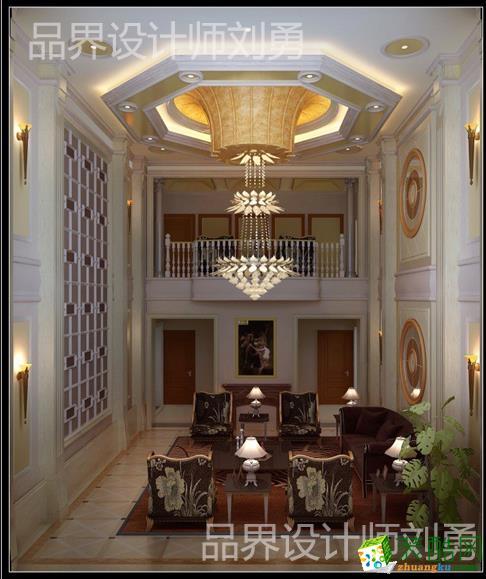 玫瑰园独栋别墅简欧设计方案效果图―奢华的影院设计