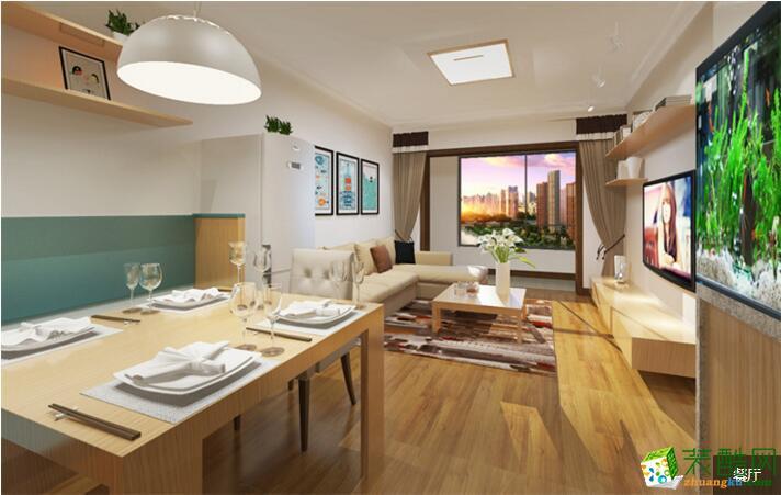 【高度国际装饰】现代风格两居室装修案例图