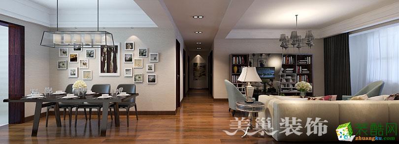 建业森林半岛135平三室两厅现代简约装修样板间设计