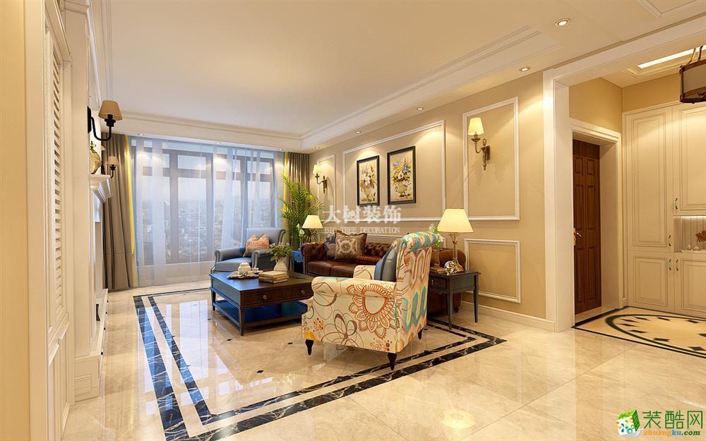 客厅 哈尔滨大树装饰盛和天下-美式装修里的绅士品格