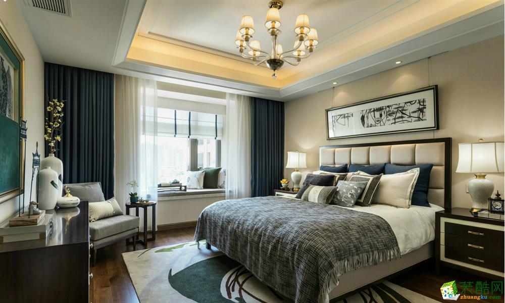 卧室  新中式效果图