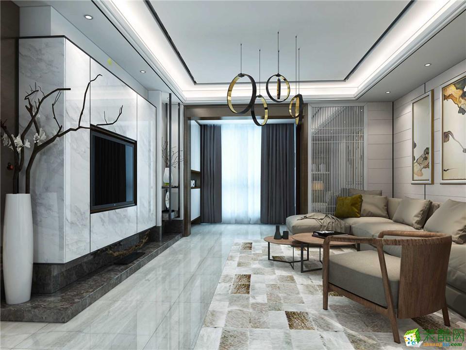 郑州一号家居网迎宾路三号112平三居室新中式风格效果图