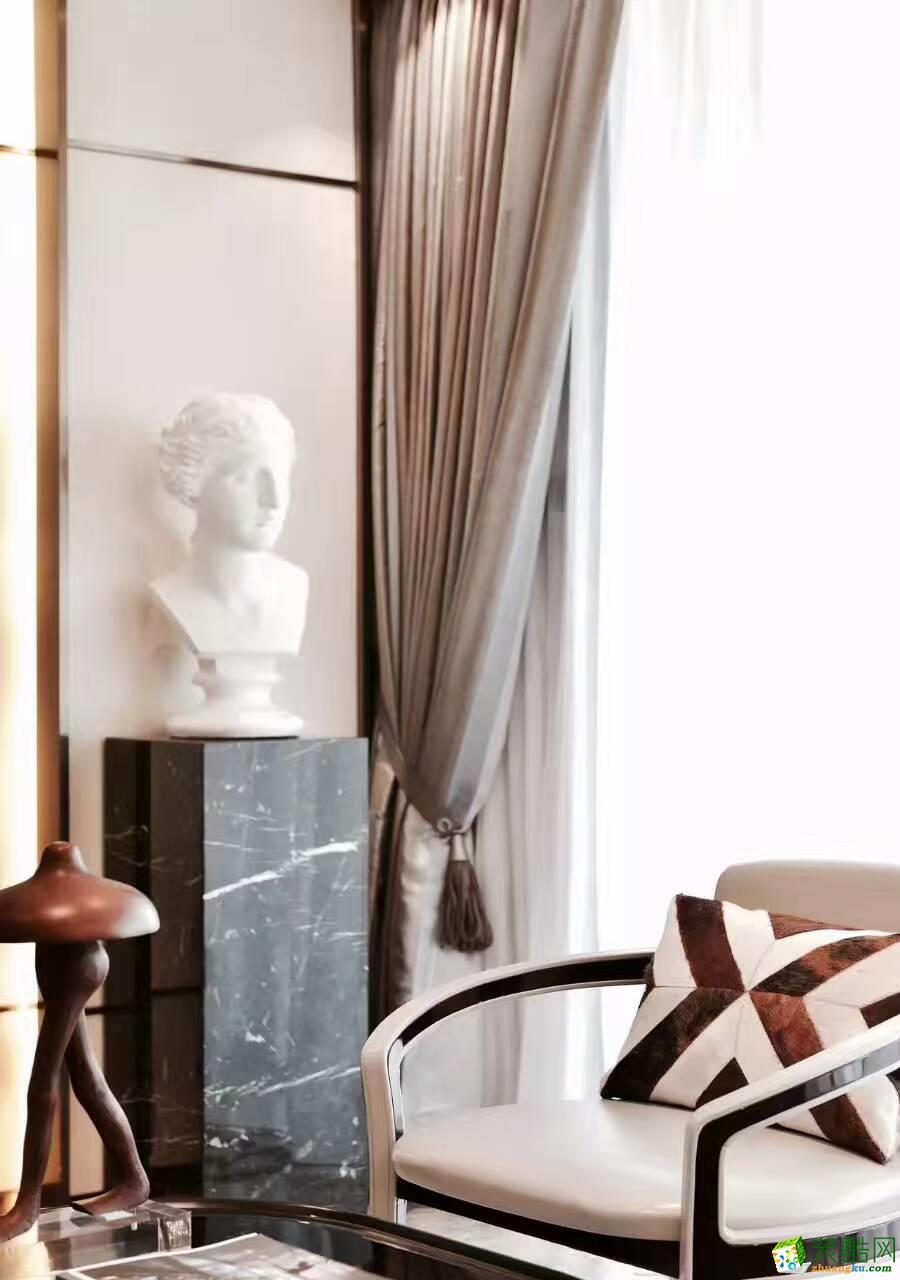 龙发装饰―半包32万打造300平米新古典奢华别墅设计