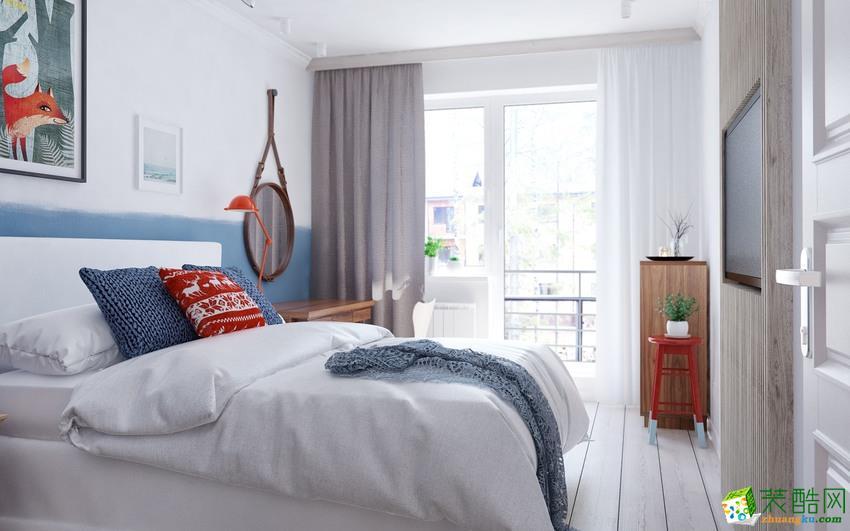 长沙喜居安装饰-北欧三居室装修效果图