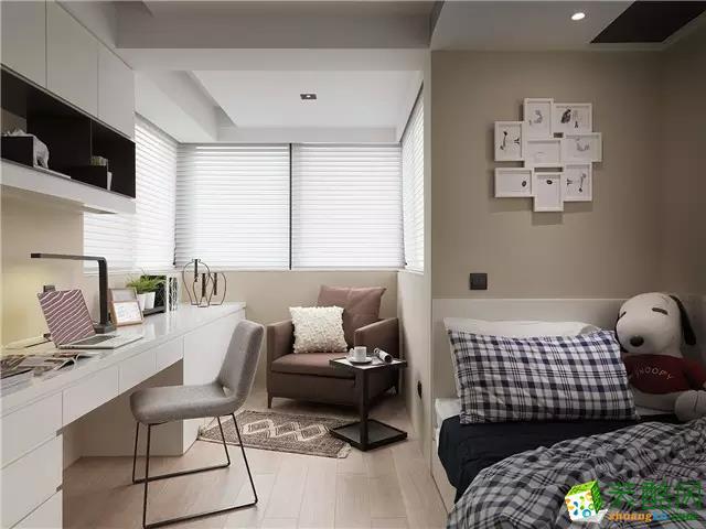 长沙名匠装饰-现代两居室装修效果图