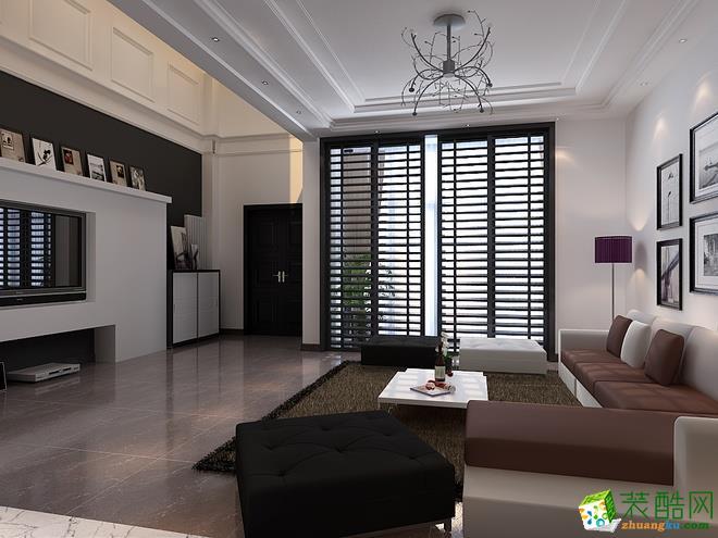 长沙优顺装饰-现代简约三居室装修效果图