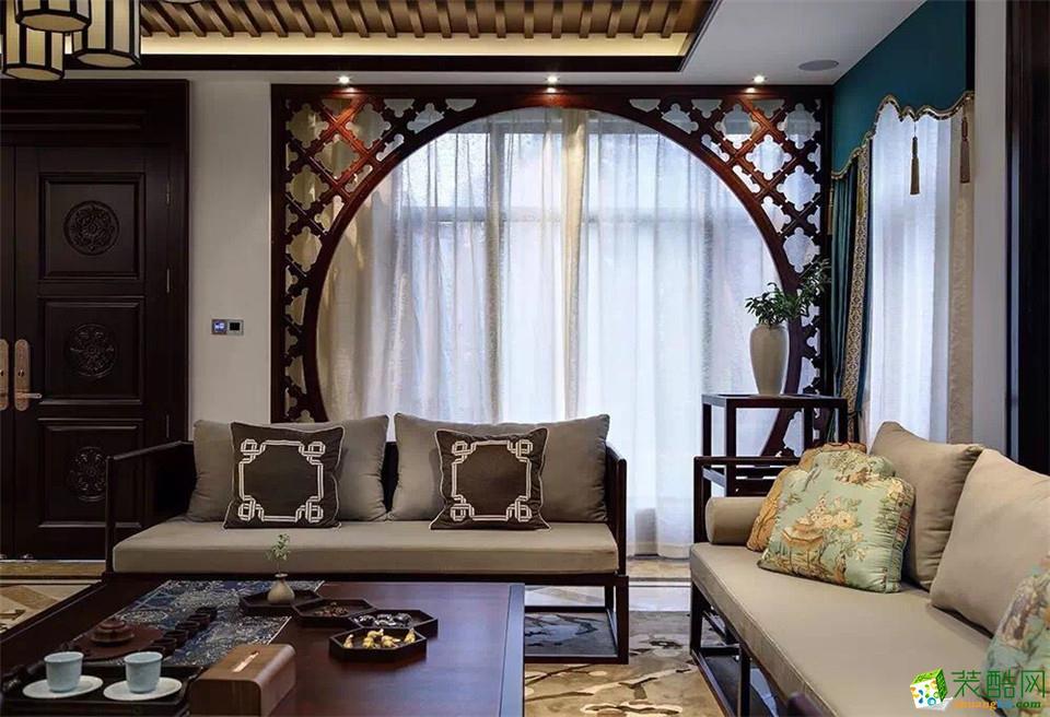 郑州装饰亚星盛世四居室新中式风格