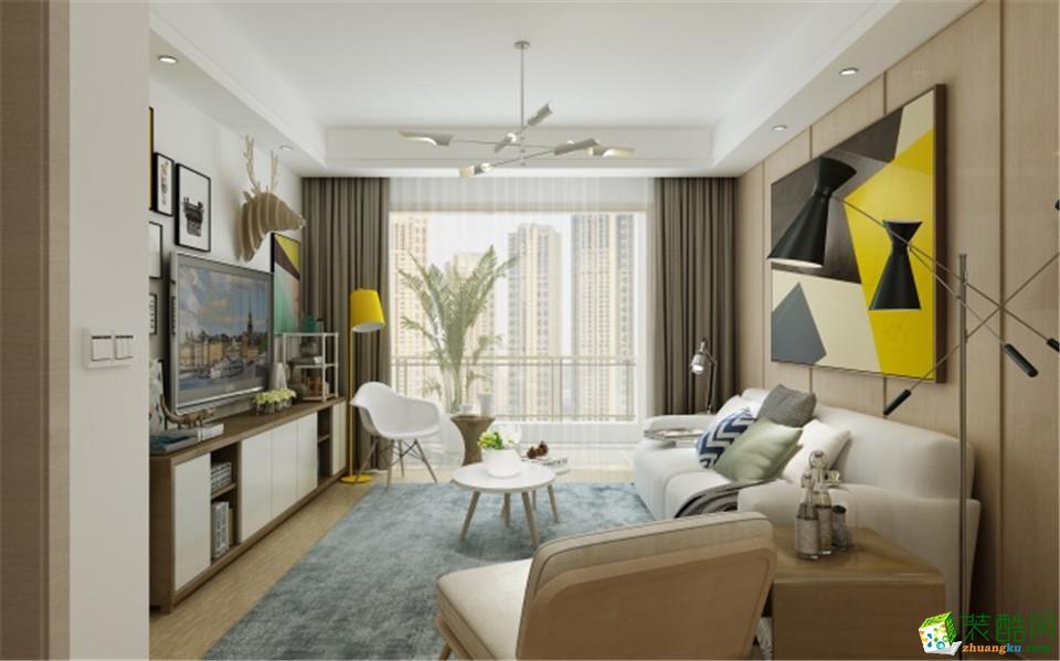 郑州一号家居网翰林国际城126三居室现代风格装修效果图