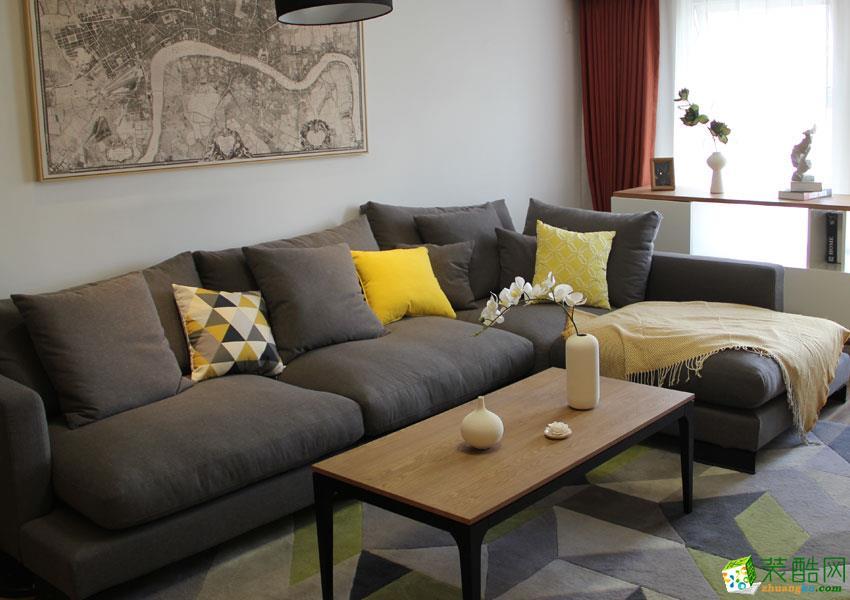 >> 西安积木家装饰-北欧三居室装修效果图