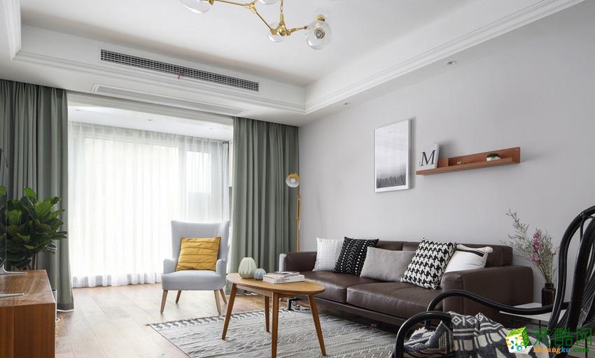 长沙市一米装饰-北欧两居室装修效果图