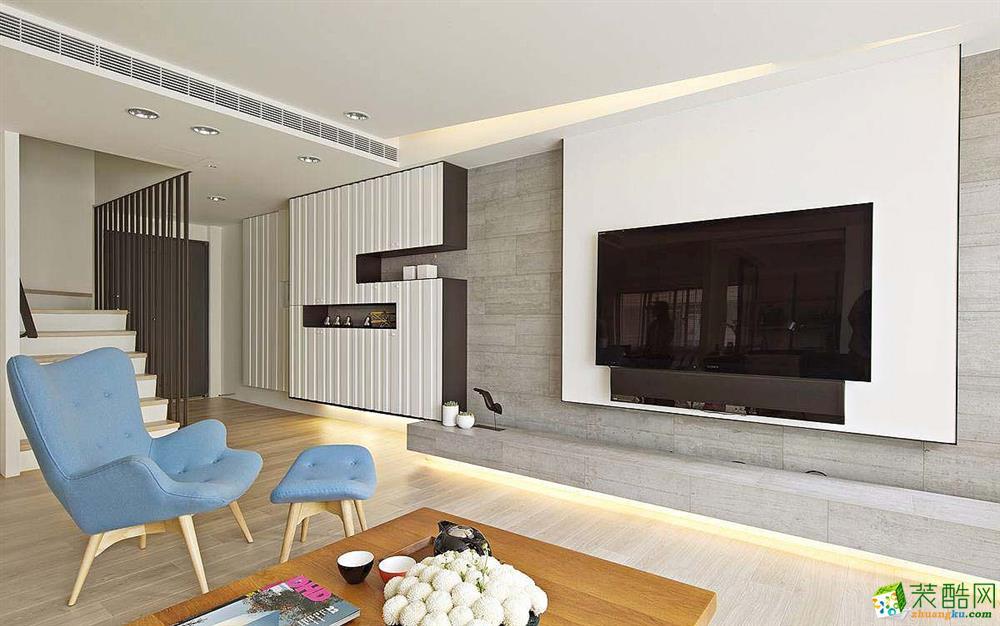 【尚品装饰】清新欧式复式客厅布局设计