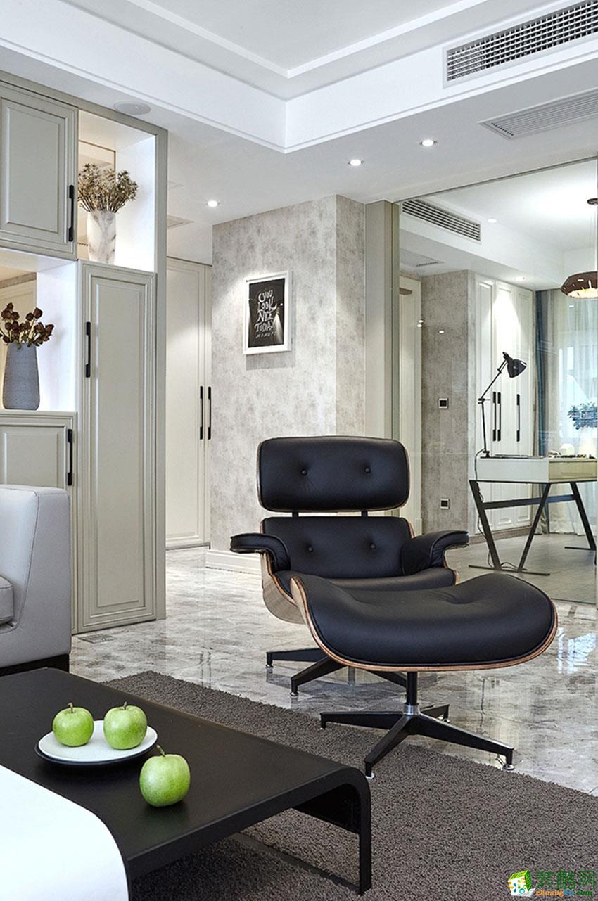 长沙金创装饰-现代简约两居室装修效果图