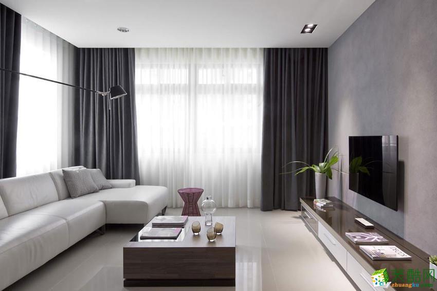 苏州旭日装饰-现代简约三居室装修效果图
