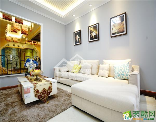 【西安盛腾美巢家装工厂店】华远海蓝城|三室两厅|110平米