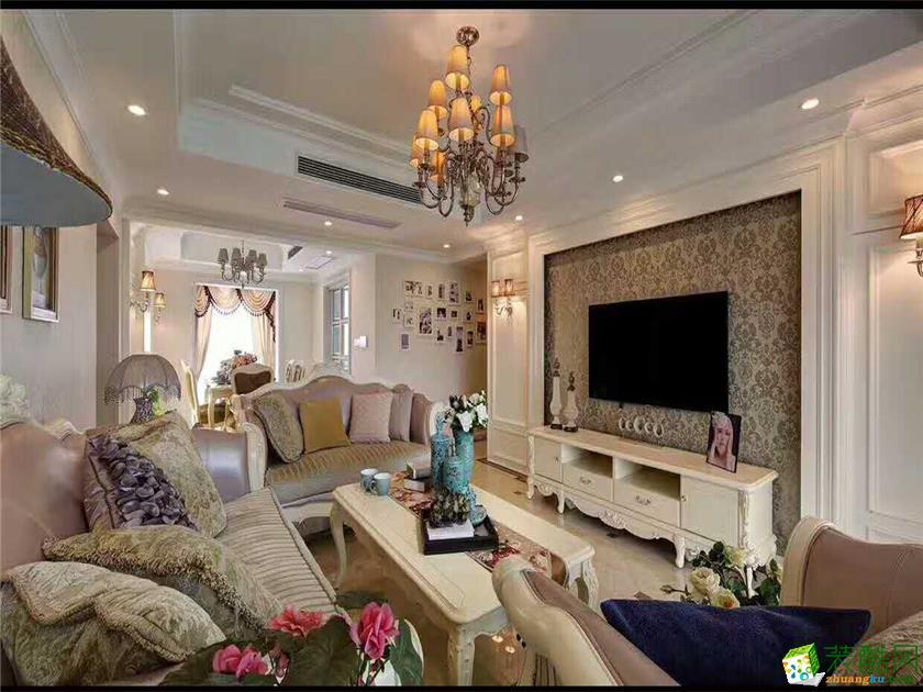西安盛腾美巢家装工厂店|枫林绿洲|三室两厅|欧式风格|