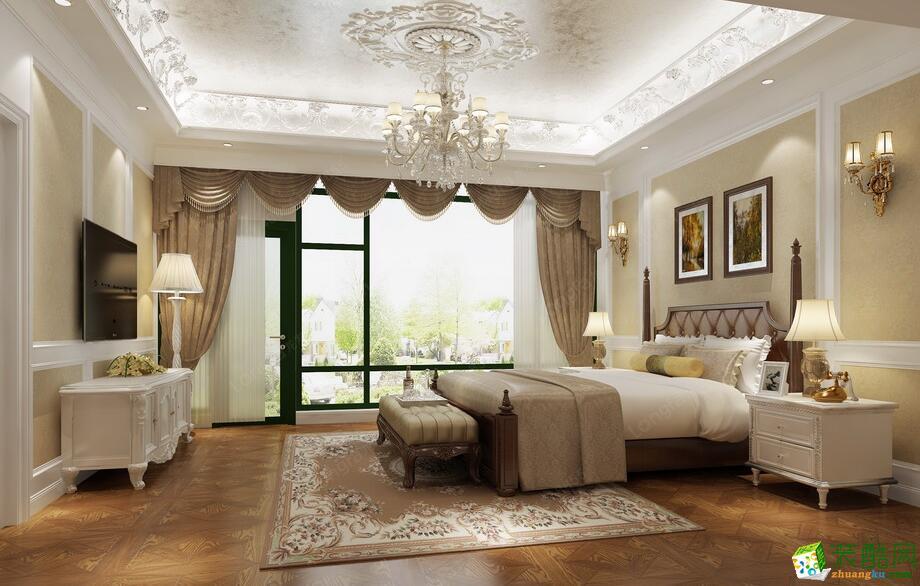 客厅电视背景墙 【西安龙发装饰】320平奢华欧式复式