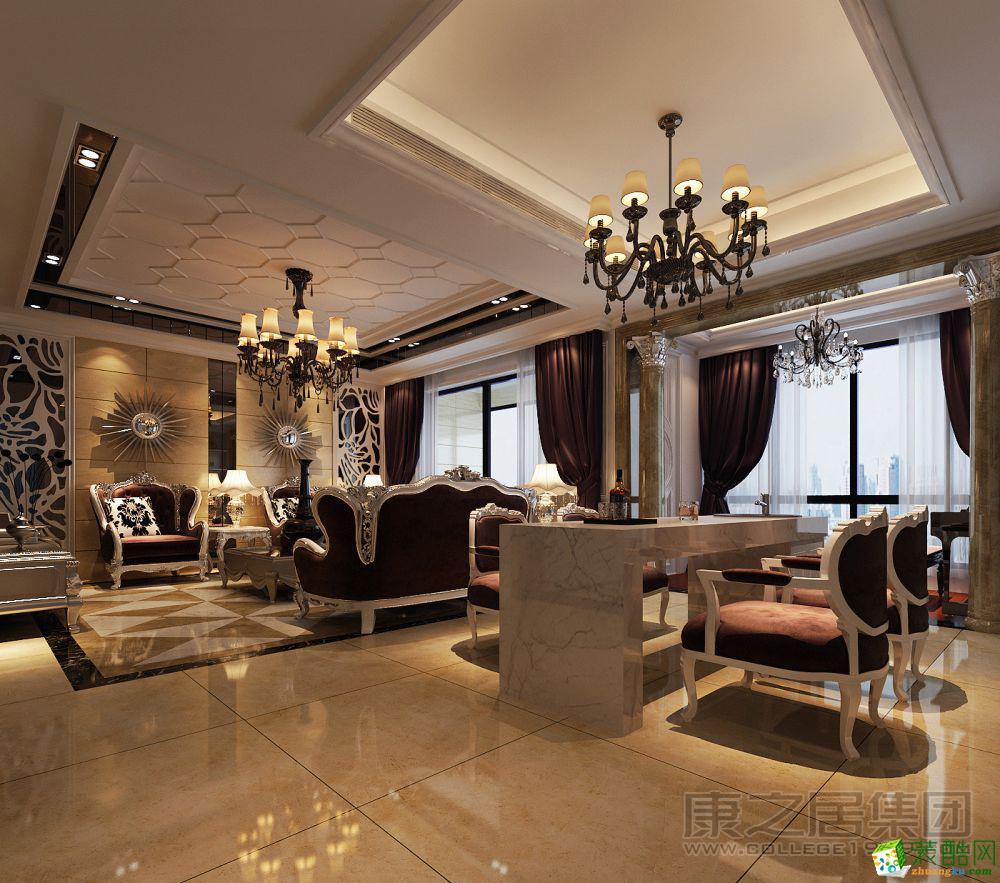 康之居装饰―紫金城150平三户二厅简欧风格