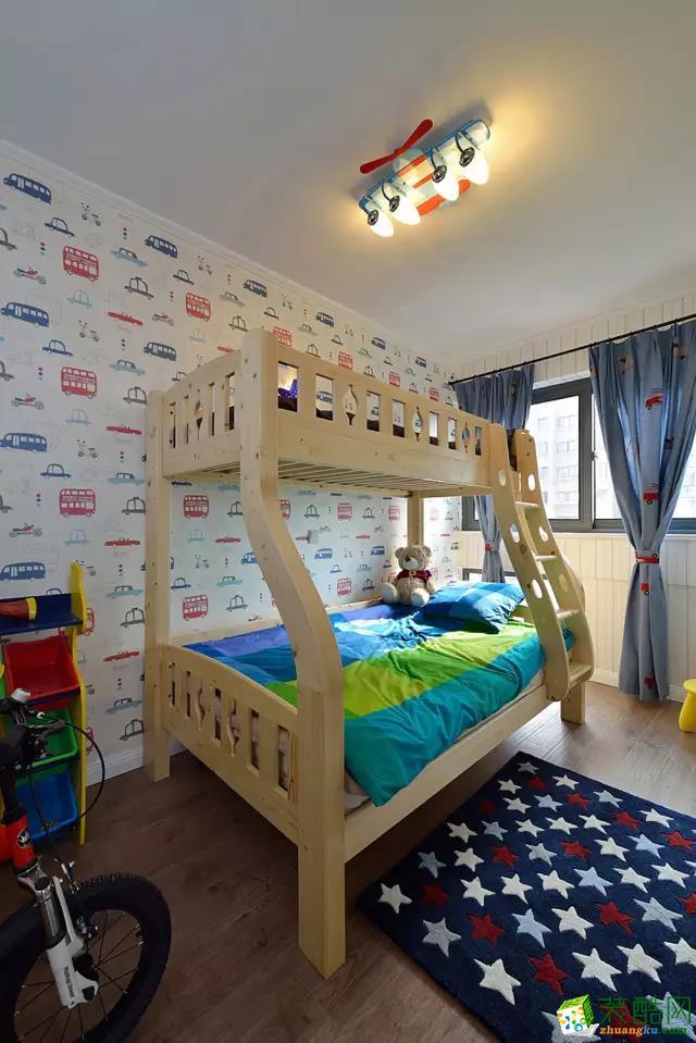 100平简约风两室两厅装修效果图-7万全包-卫儿童房