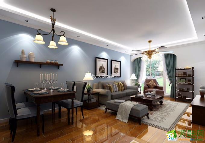 翰林华府90平米现代简约风格二居室装修效果图