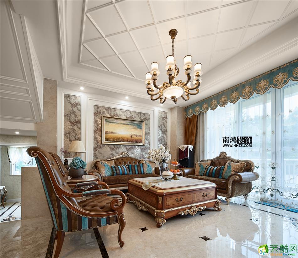 客厅 498平美式别墅精装效果图-客厅6 白云深处