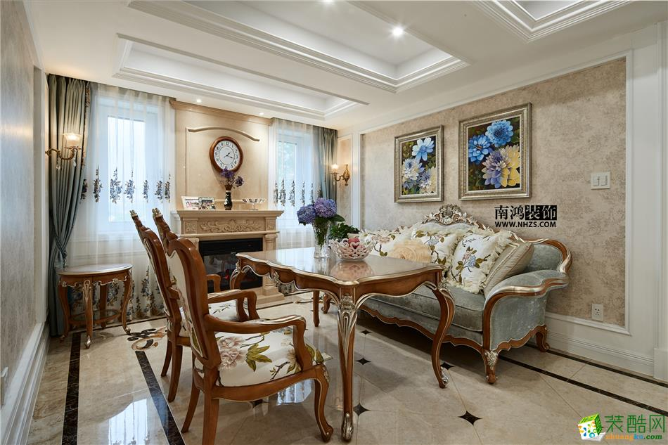 客厅 498平美式别墅精装效果图-客厅5 白云深处