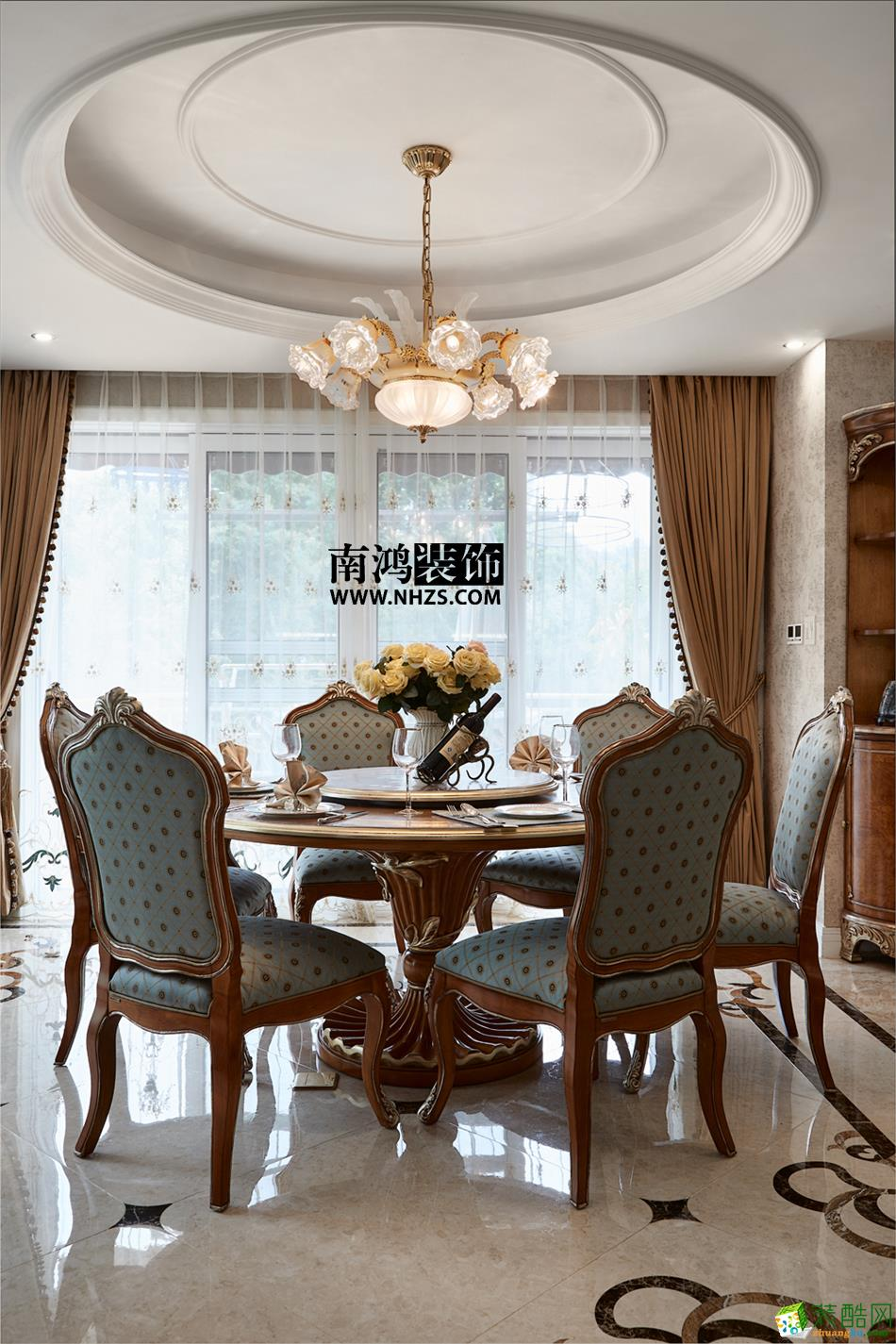餐厅 498平美式别墅精装效果图-餐厅 白云深处