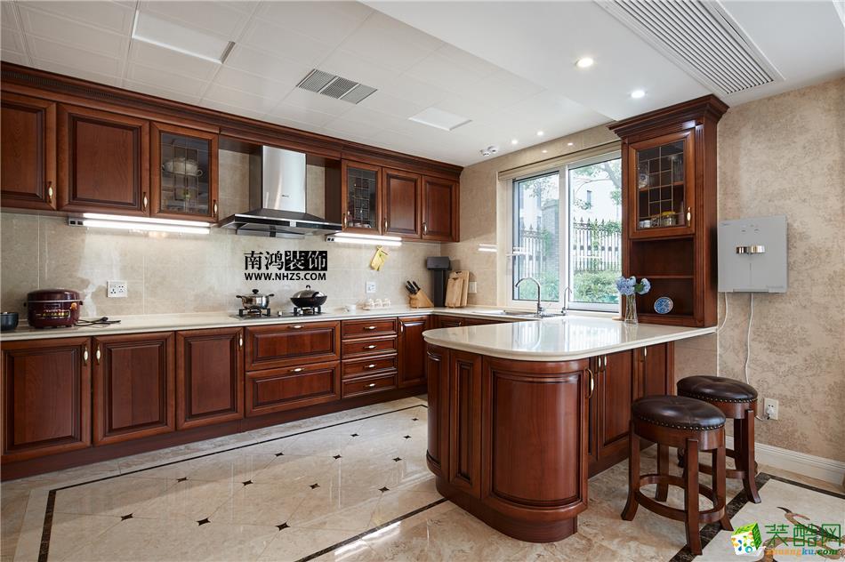 厨房 498平美式别墅精装效果图-厨房 白云深处