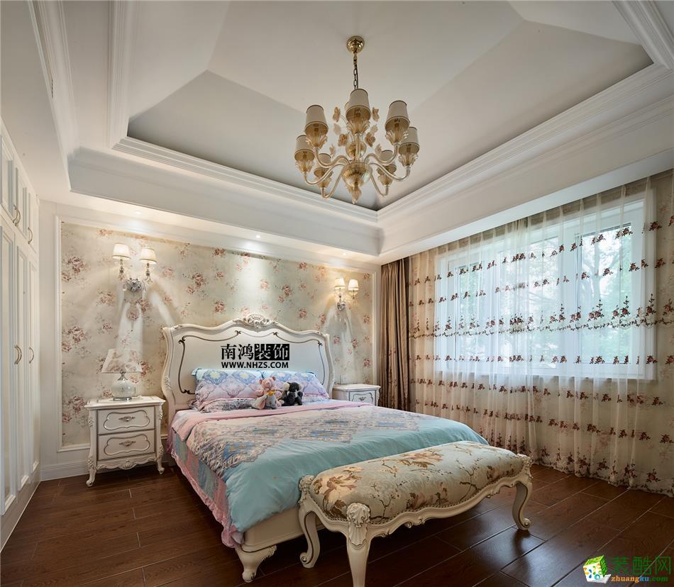 卧室 498平美式别墅精装效果图-卧室3 白云深处