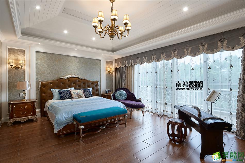 卧室 498平美式别墅精装效果图-卧室2 白云深处