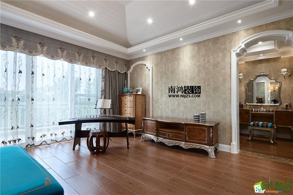 卧室 498平美式别墅精装效果图-卧室1 白云深处