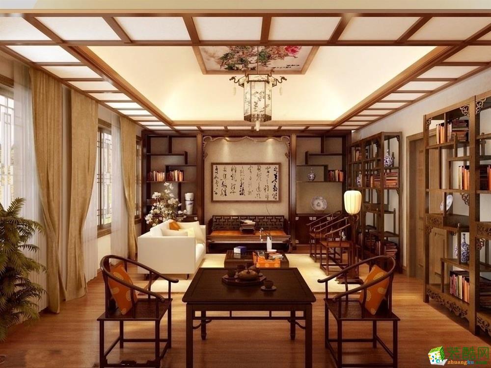 【十上装饰】茶楼中式风格案例图