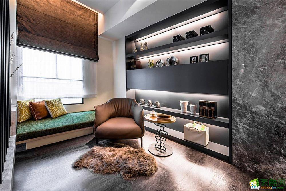【豫龙装饰】98平米两居室现代风格装修案例