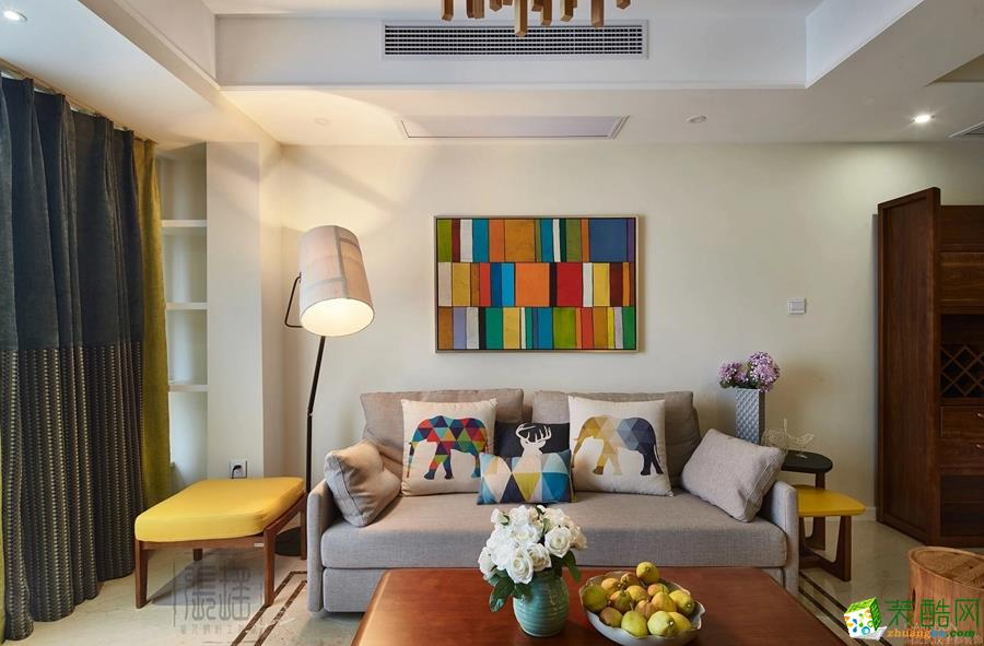 客厅 圣都装饰―136�O简美三居室客厅2 圣都装饰―136�O简美三居室