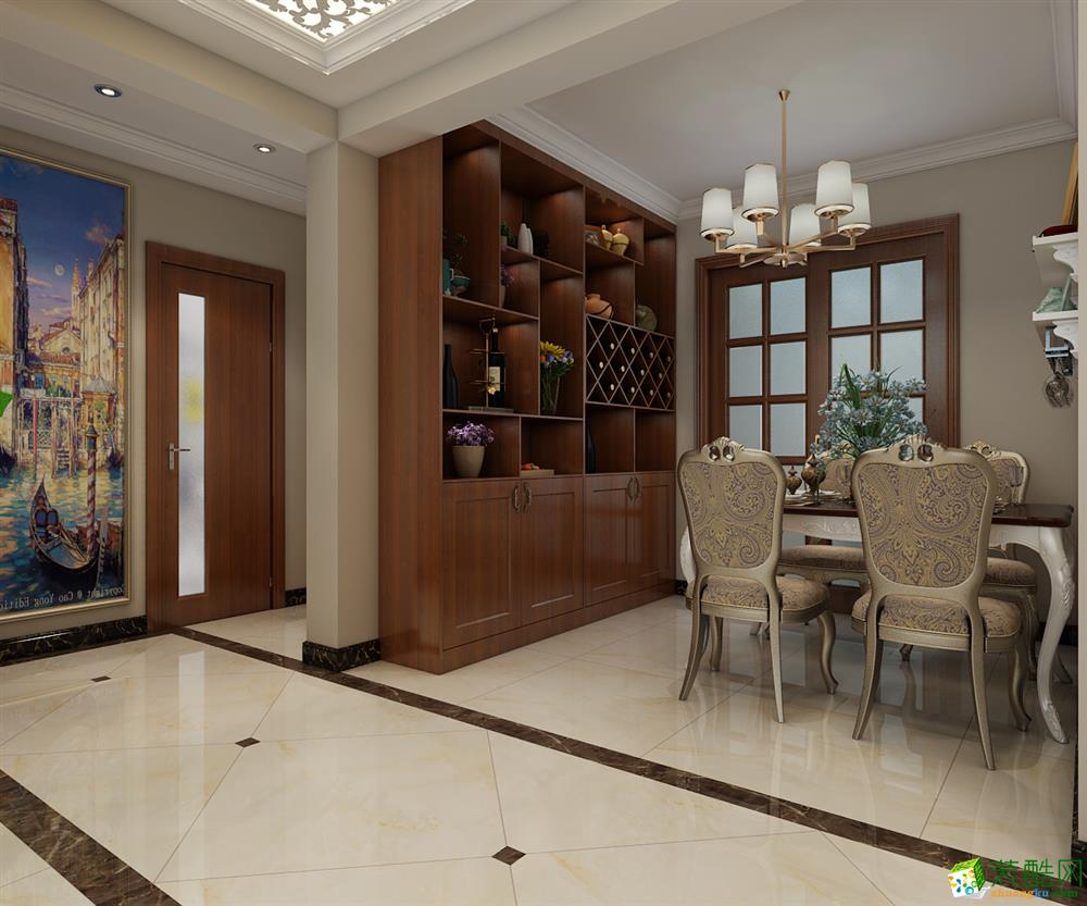 餐厅 紫林湾126平米-优美顺滑三居婚房餐厅装修1 紫林湾126平米-优美顺滑三居婚房-石家庄实创装饰