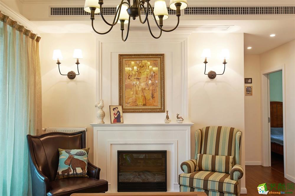 客厅 北大资源-美式风格客厅装修3 北大资源