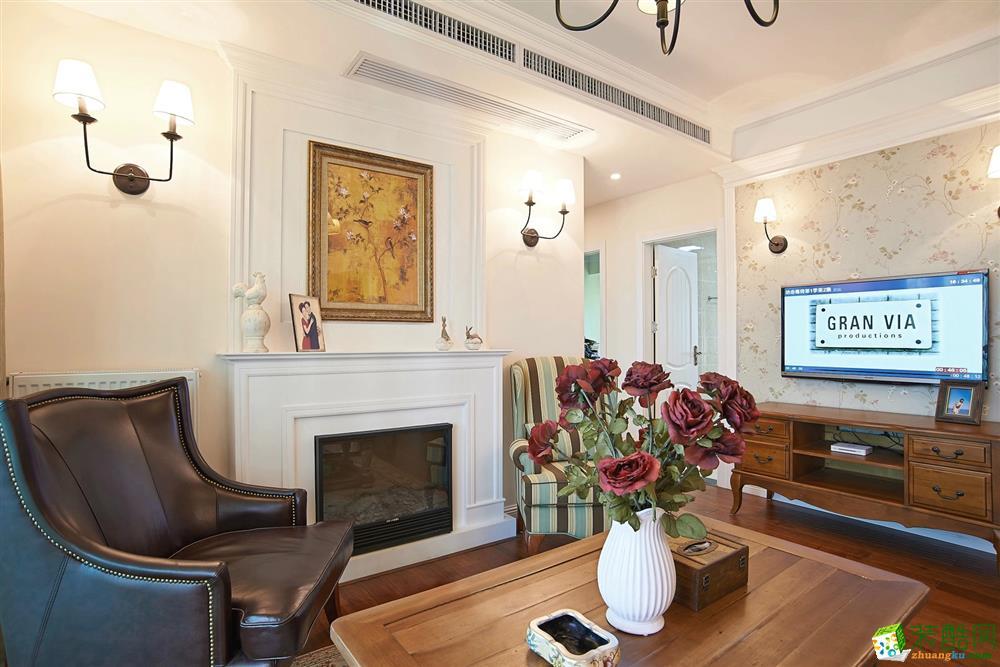 客厅 北大资源-美式风格客厅装修 北大资源