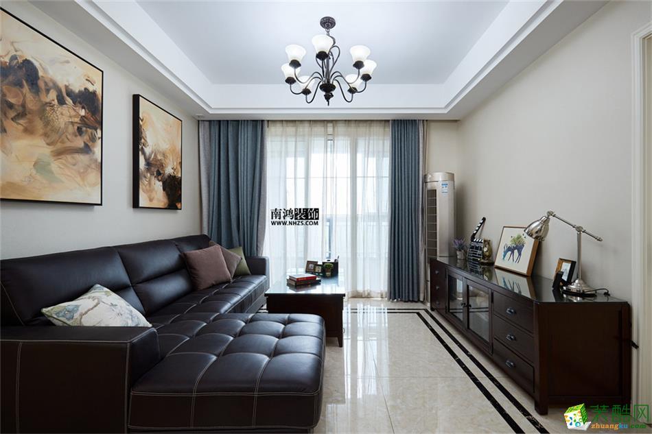 南鸿装饰―康城国际89�O简约风格案例-客厅