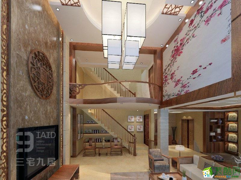 【三宅九居建筑装饰】万泉城别墅290平米中式风格案例图
