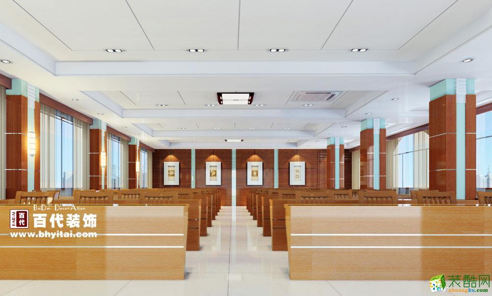 【百代装饰】会议室中式风格案例图