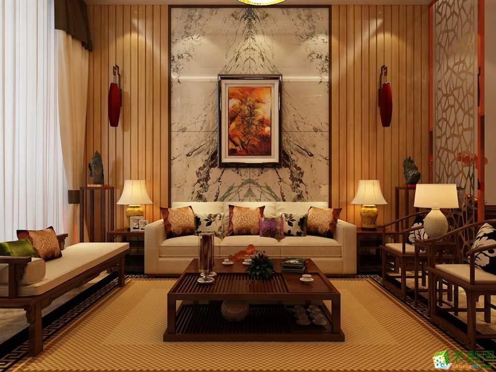 【雅智尔装饰】新中式风格160平米别墅实景图