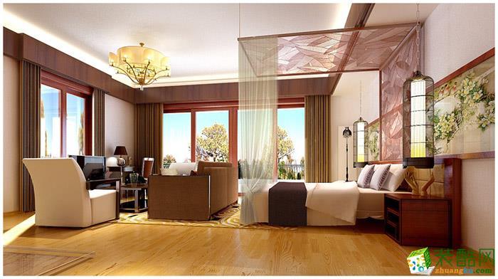 长沙淘家装饰-东南亚三居室装修效果图