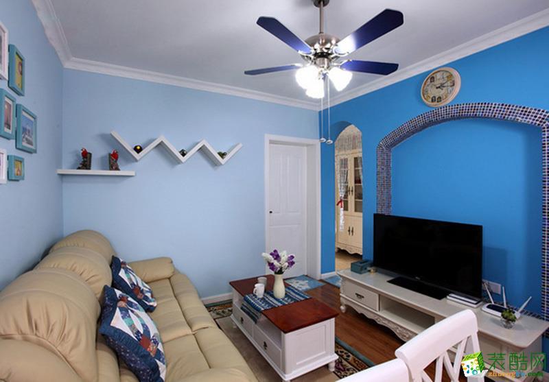 长沙淘家装饰-地中海一室一厅装修效果图