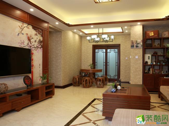 137平新中式古典美装修效果图-白城爱美家装饰