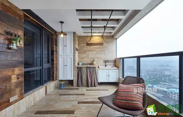 177平现代美式―把户外餐厅搬进阳台!-阳台