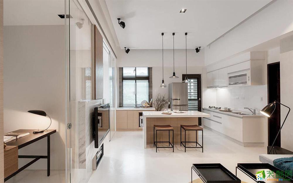 36平现代简约小户型单身公寓装修案例