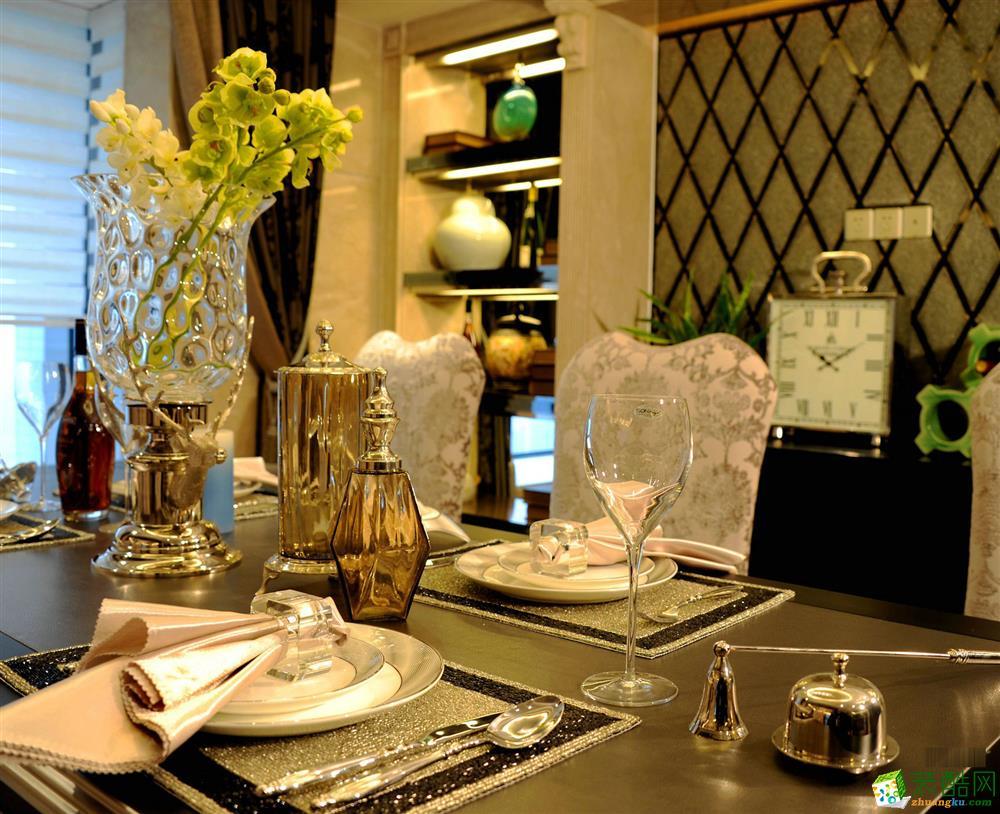 望江台-新古典风格-98平-餐厅