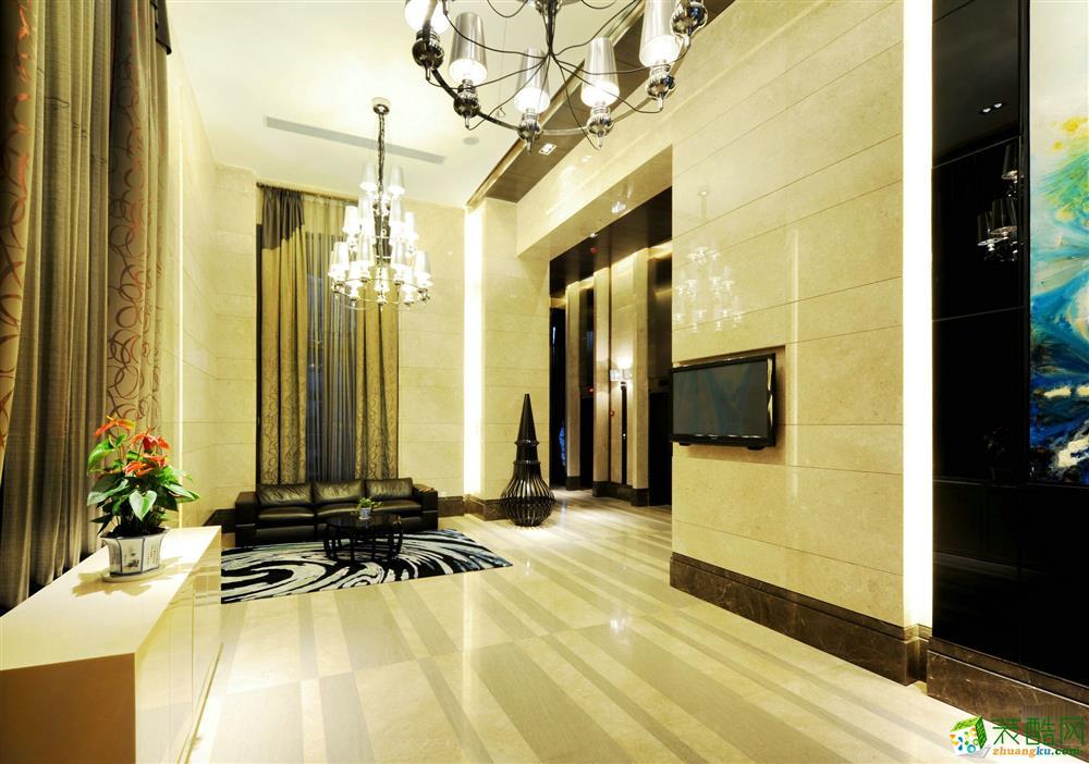 望江台-新古典风格-98平-客厅
