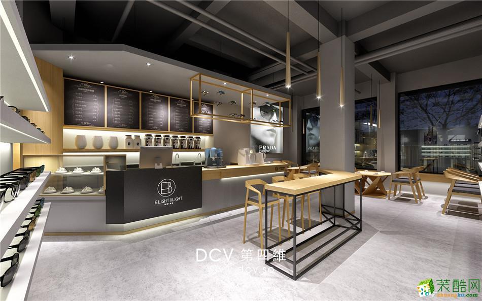 西安极简风主题餐厅设计EB眼镜&咖啡-吧台1