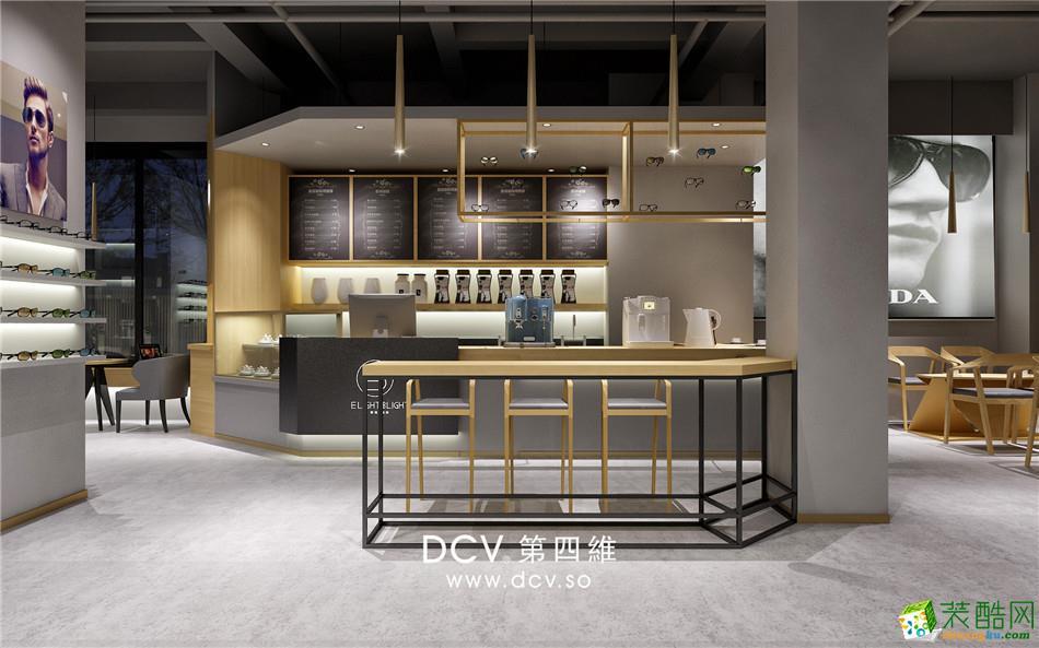 西安极简风主题餐厅设计EB眼镜&咖啡-吧台