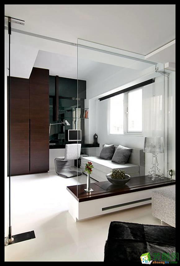 长沙牛魔王装饰-现代简约三居室装修效果图